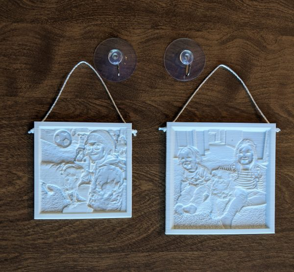 Photo showing what is included with the lithophane window clings